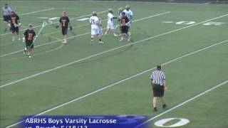 Acton Boxborough Varsity Boys Lacrosse vs Beverly 5/18/13