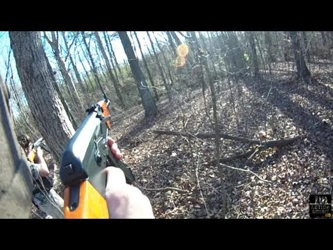Airsoft Battle CYMA CM046 Blow Back AK-47 Contour ROAM HELMET CAM ABS65