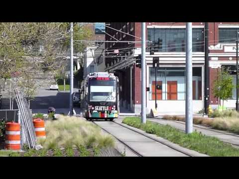 South Lake Union Streetcars in Seattle, WA, USA