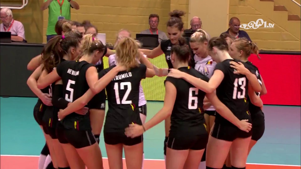 Thrilling end to the match as Belgium take big home win over Slovenia | #EuroVolleyW 2019