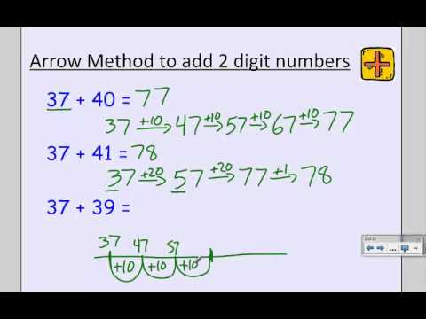 2nd Grade Arrow Method For Addtion Subtraction Youtube