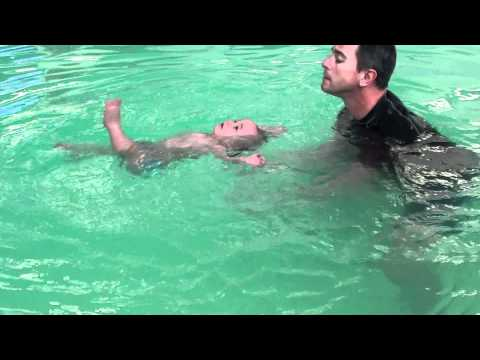 10 Month Old Baby Floating - ISR Training - Float Infant Swimming Resource