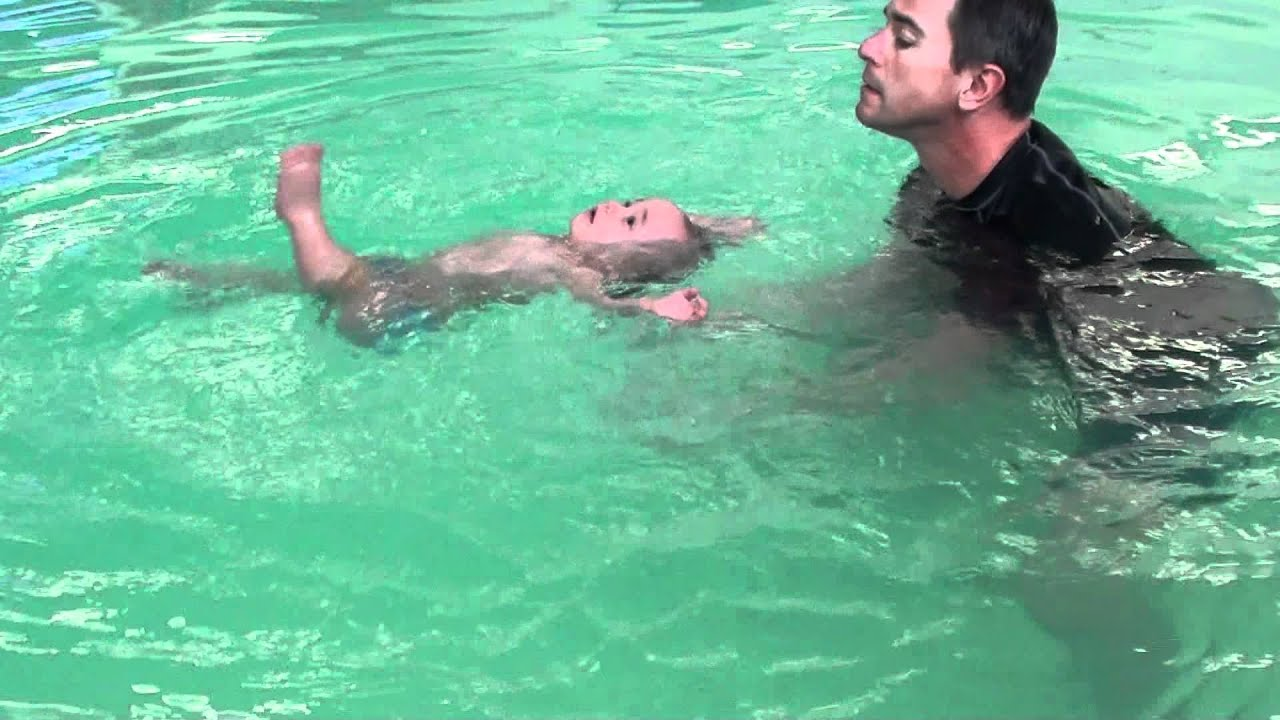 10 Month Old Baby Floating Isr Training Float Infant Swimming Resource Youtube