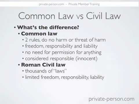 Exactly what is the distinction between Common Law vs Civil Law