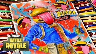 "Drawing Fortnite Battle Royale BEEF BOSS ""Durrr Burger""New EPIC SKIN! Fortnite Dibujos"