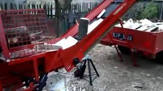Piło-łuparka do drewna kominkowego Scyzora, homemade firewood processor