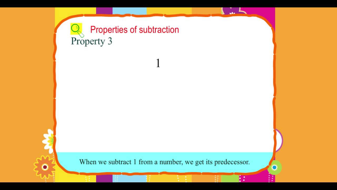 Explore Math Class 3 Unit 05 02 Properties Of Subtraction