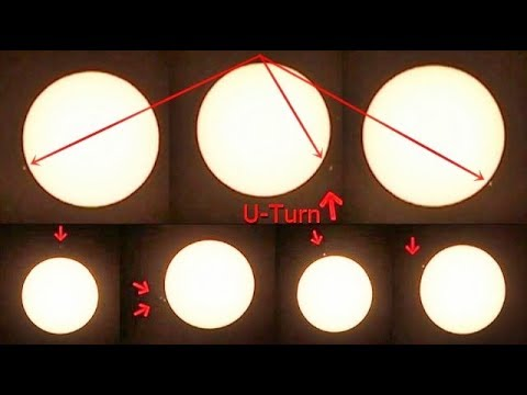 Stunning footage of 11 UFOs moving around the Sun, 1 UFO even makes a U turn!
