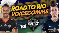 NiP COMMS: vs Heretics (Groups) in Road to Rio  -  EAVESDROP | Ninjas in Pyjamas [ENG subs]