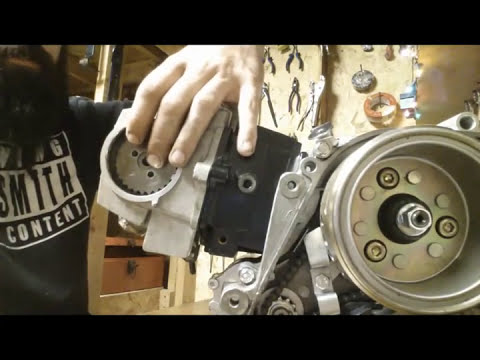 110cc Chinese motor tear down - YouTube