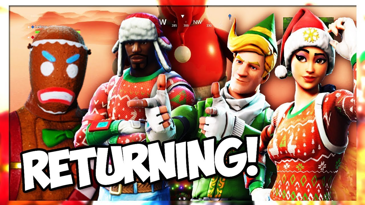 Confirmed Christmas Skins Are Returning To Item Shop July 2018