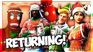 *CONFIRMED* CHRISTMAS SKINS ARE RETURNING TO ITEM SHOP!!! JULY 2018 (Fortnite Battle Royale)