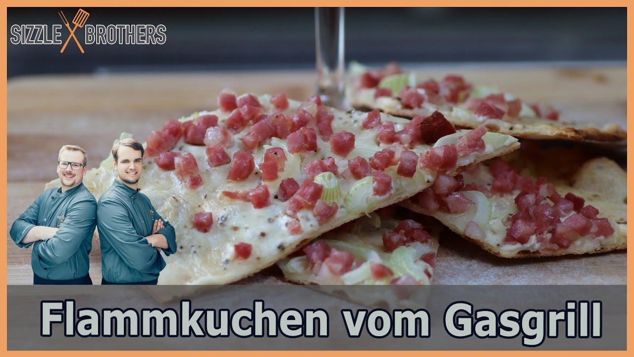 Pizzastein Aldi Anleitung Gasgrill : Flammkuchen vom gasgrill youtube