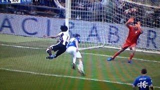 Sampdoria Juventus 0 1 - Zambruno al gol Cuadrado, telecronaca Sky audio tifoso