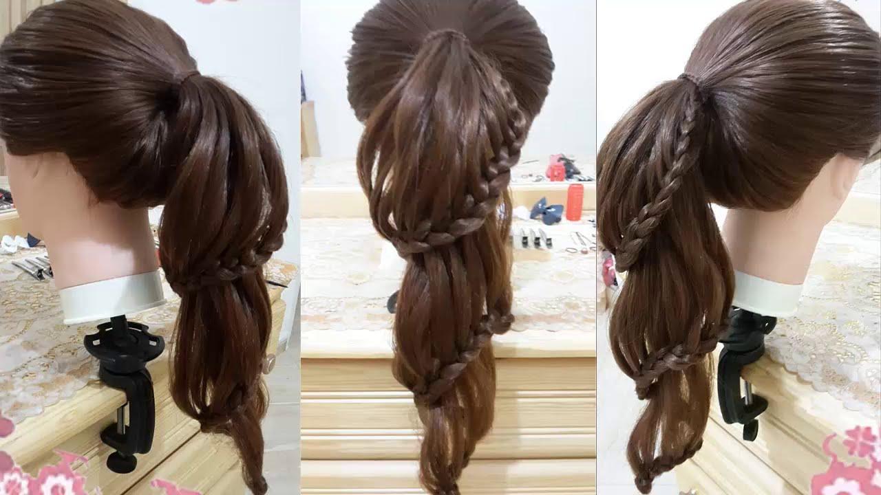 peinados faciles de caballo con trenzas para cabello largo y bonitos para niña y la escuela 2016