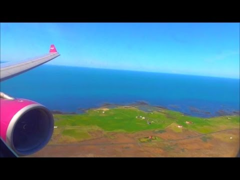WOW Air Airbus A330-343 | London Gatwick to Keflavik *Full Flight*