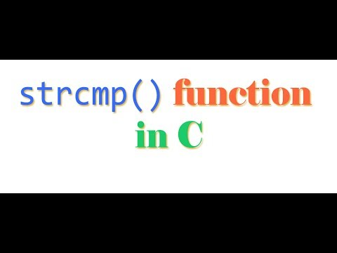 STRCMP Function In C And C++ For Comparing 2 Char Array Strings