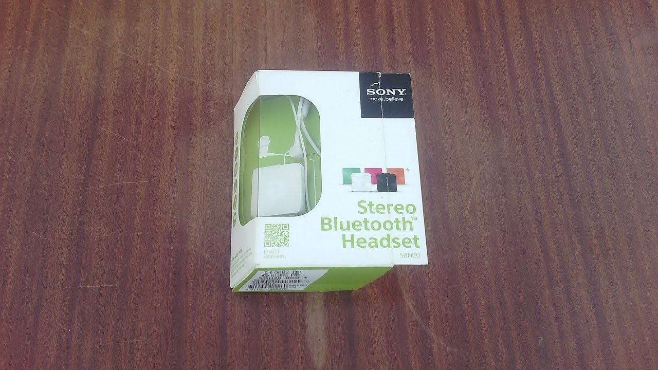 Sony Stereo Bluetooth Headset Sbh20 Unboxing Review Youtube