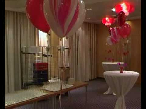 Feestzaal na decoratie voor huwelijk in een hotel te badhoevedorp 2 youtube - Decoratie foto ...