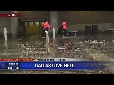 Parking Garages Flooded At Dallas Love Field Airport