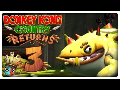 Let's Play DONKEY KONG COUNTRY RETURNS Part 3: Loren, Grässli, K-Level & Strand