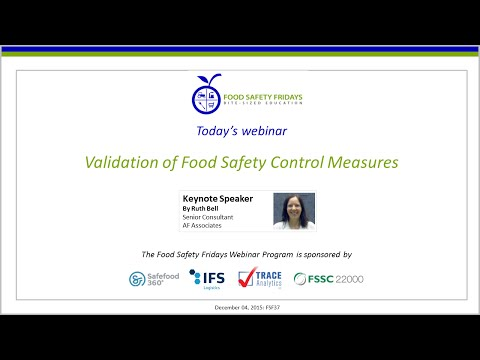 Validation of Food Safety Control Measures
