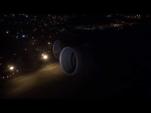 TF39 spool up during a go around at night
