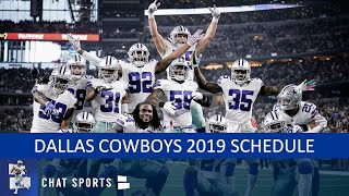 Dallas Cowboys 2019 Schedule: Opponents, Previews And Predictions