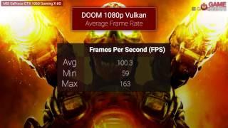 DOOM MSI GTX 1060 Vulkan vs OpenGL Frame Rate Benchmarks