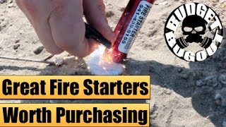 Great Fire Starter Products | Budget Bugout