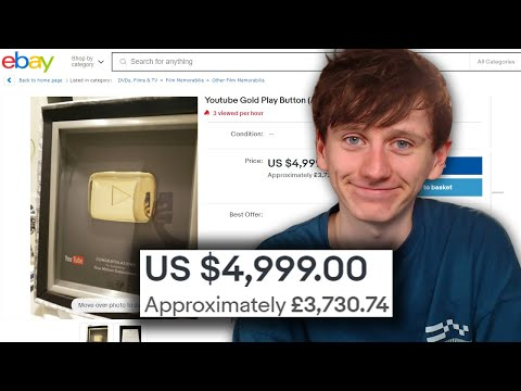 A guide to buying Youtube Play Buttons on Ebay