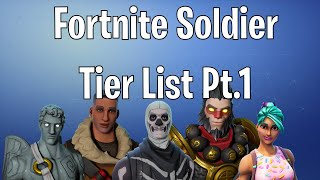 Fortnite Save The World - Best Soldier Tier List! - Part 1 (Low Tier)