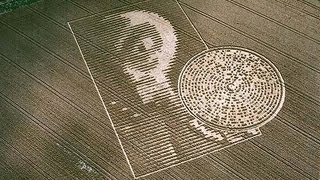 Crabwood Alien Crop Circle - Inside Out 2002