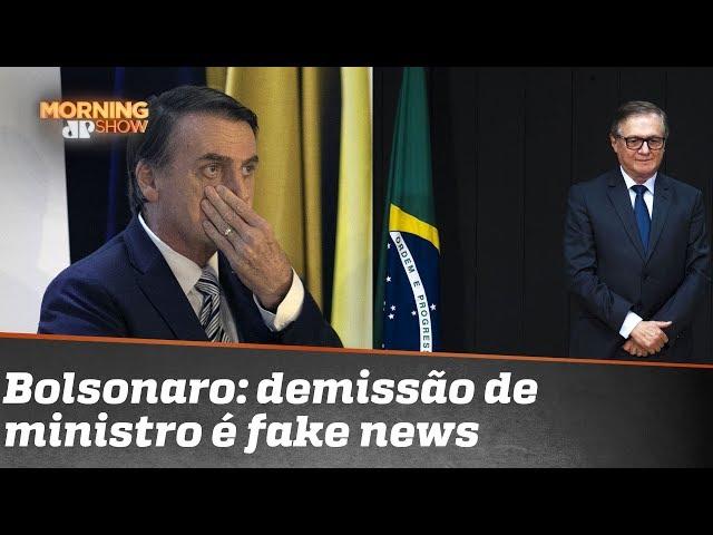 Bolsonaro diz que demissão de Vélez Rodríguez é fake news