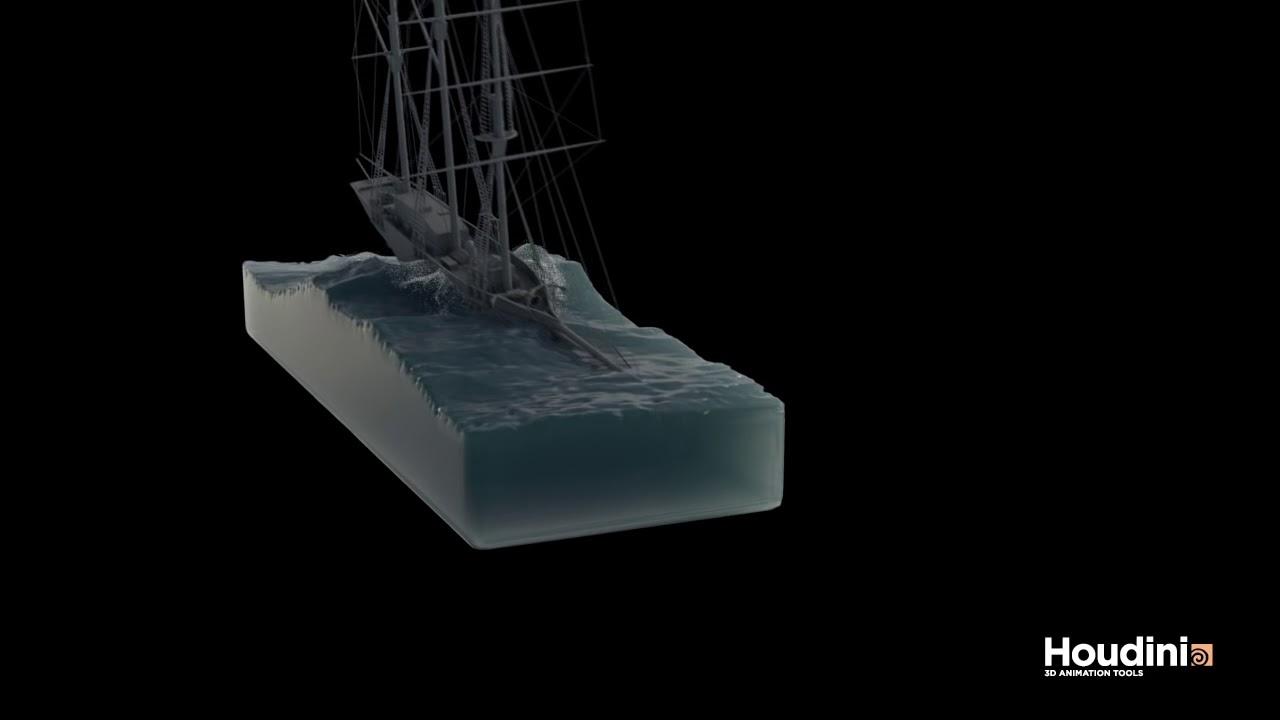 Houdini Guided Ocean Test
