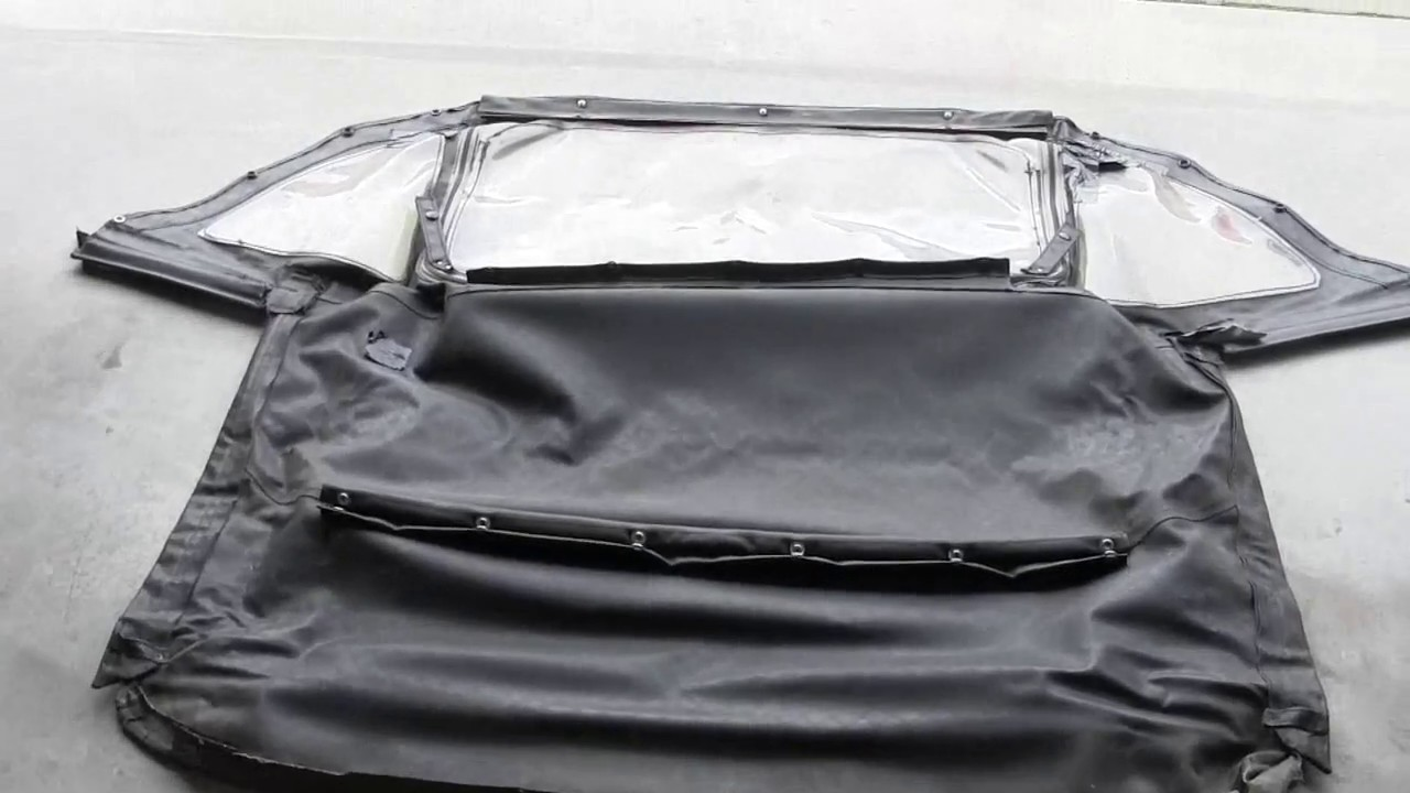 Triumph Spitfire Convertible Top Part 1, Removal - YouTube
