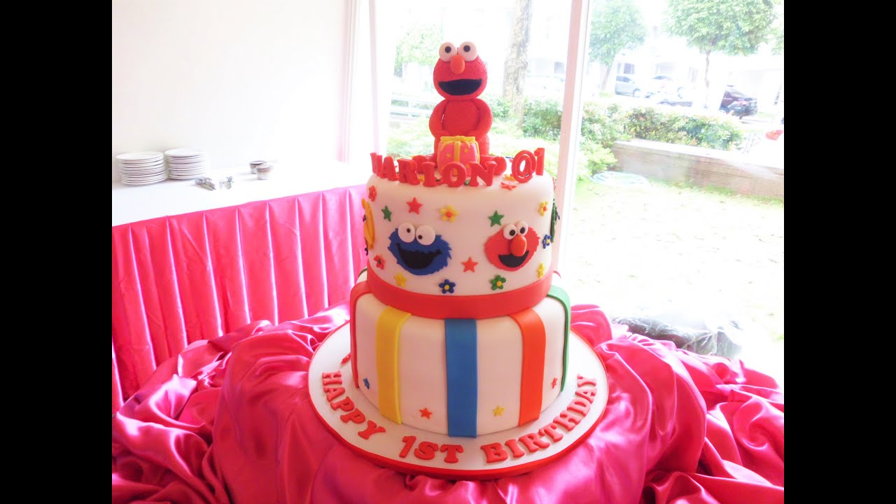 elmo birthday cake marion s 1st birthday elmo cake sesame by mau s 3882