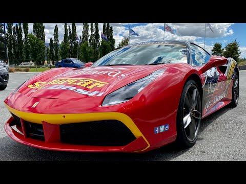 Ferrari 488 GTB Fast Dash Hot Lap @ Highlands Motorsport Park Cromwell Twin Turbo V8 Supercar B-roll