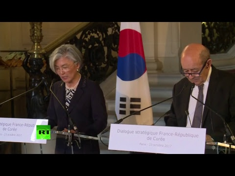 Conférence de presse de Jean-Yves Le Drian et de son homologue sud-coréenne Kang Kyung-wha