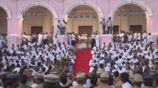 Jayalalaithaa's funeral at Rajaji Hall