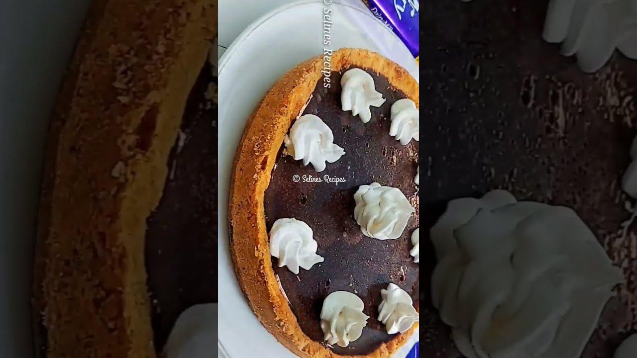 Chocolate Cake   Chocolate Tart Cake   #shorts #selinesrecipes
