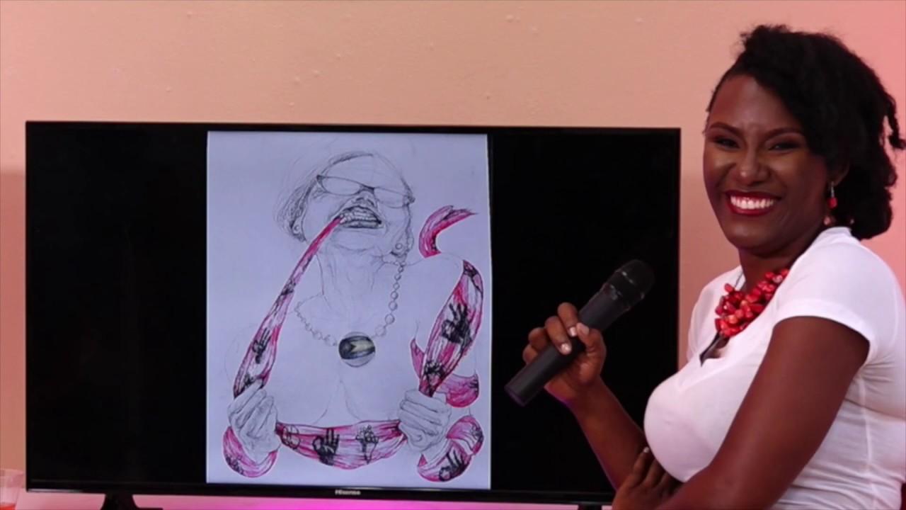 Womans Tongue Art Talk - TV Show