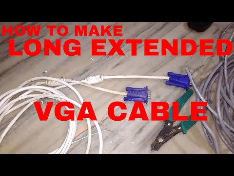 homemade long vga cable easy to make in hindi by using cat6 cable