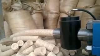 We make money from sawdust! Super machine!