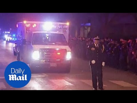 Procession honors fallen officer after Chicago hospital shooting