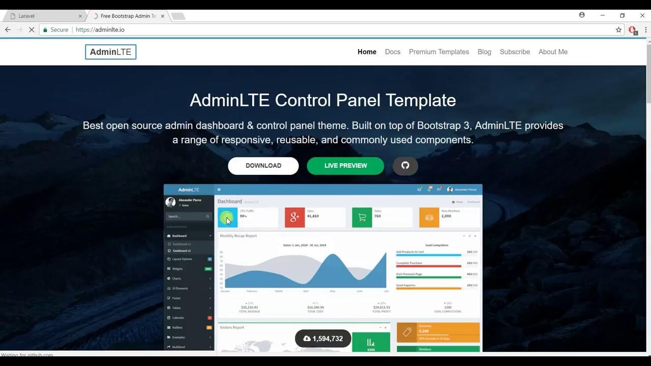 Laravel 5 5 - Integrate Admin LTE - part 1