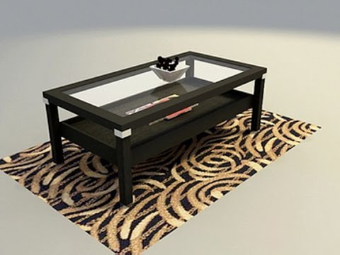 wood and glass coffee table - youtube
