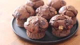 チョコレートマフィンの作り方とラッピング Chocolate Muffins|HidaMari Cooking