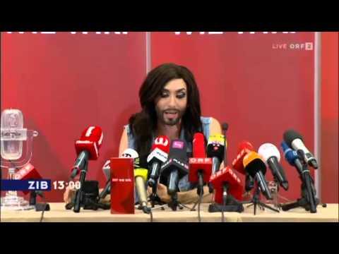 Conchita Wurst (Tom Neuwirth) First Interview back in Vienna Austria after ESC 2014 German