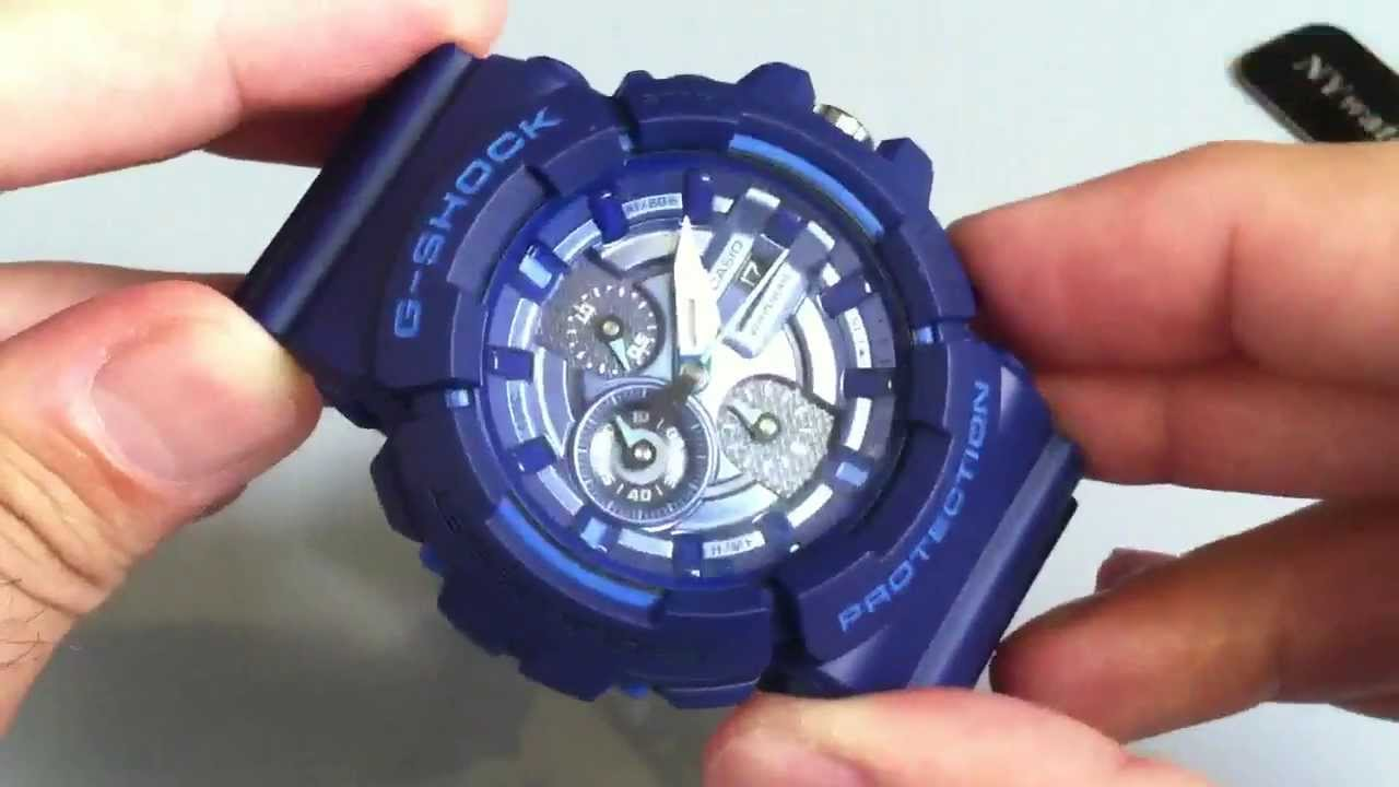 1f767c726652 Blue Casio G-Shock Anti-Magnetic Watch GAC100AC-2A - YouTube